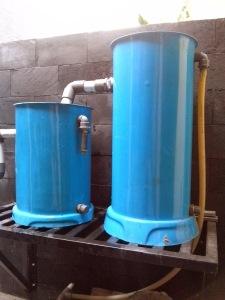 filter kolam, dengan sistem 2 tabung